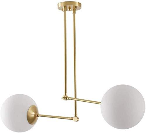 Araña de luces Araña de araña lámpara de luna de cristal de latón personalidad escandinava lámpara de decoración de café lámpara de mesa de comedor