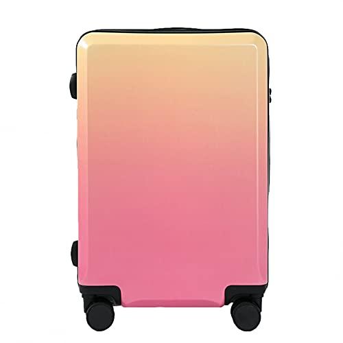 Valigia Trolley Da 20 Pollici in Colore Sfumato, Valigia Universale Con Cerniera A Ruota Di Grande Capacità Con Lucchetto A Combinazione TSA Integrato, Per Scuola Di Viaggio Per Viaggi D'affari,Rosa