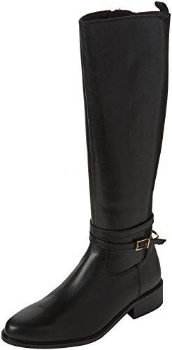 Dune London Damen Taro Biker Boots, Schwarz (Black Black-Leather), 35.5 EU