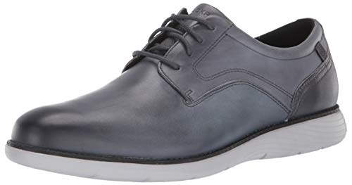 Rockport Men's Garett Plain Toe Oxford, Castlerock Grey Gradient, 9.5 M US