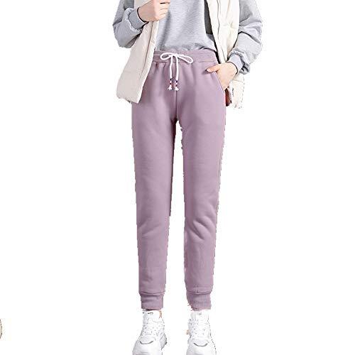 U/A de las mujeres de los deportes pantalones de felpa ropa de las mujeres flojas knickerbockers engrosados pantalones calientes mujeres