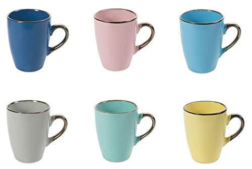 Villa d'Este - Juego de 18 tazas de café (8,5 x 10,5 cm)
