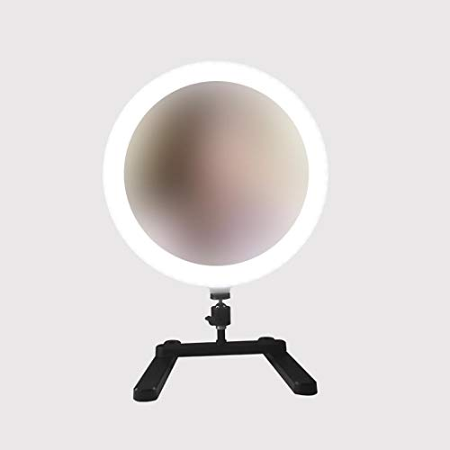HELELELELE ringlicht met ondersteuning voor selfie/make-up Live Stream en YouTube video dimbare led-camera