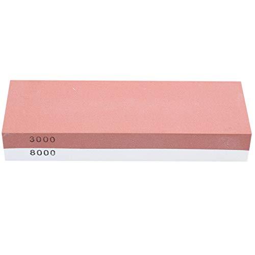 NEYOANN Piedra de Afilar 3000 y 8000 - Juego de Piedras de Afilar de Doble Cara para Cuchillos con Base de Bambú Antideslizante y GuíA de áNgulo Libre
