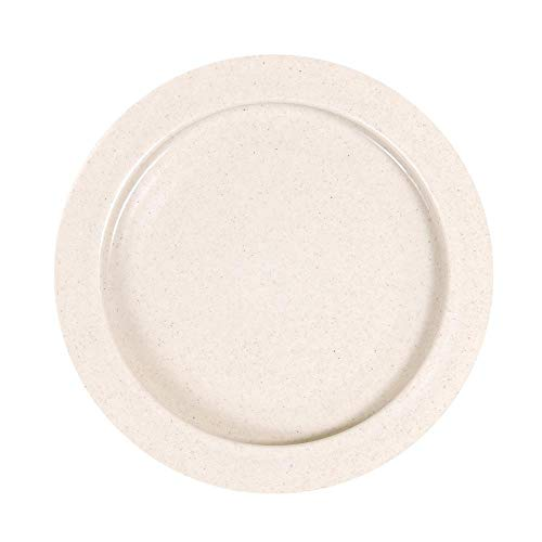 SP Ableware Inner-Lip Plates with High Wall, Plastic – Sandstone, Pack of 12 (745310012)