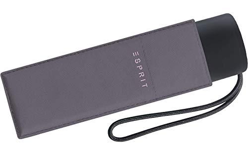 Esprit Taschenschirm Petito, 91 cm, Excalibur (Grau)