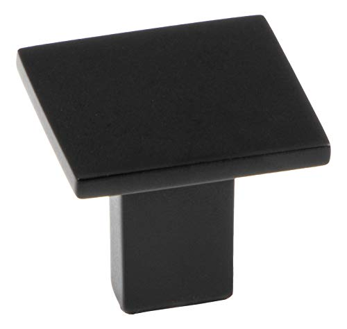 Gedotec Design Möbelknopf schwarz Schrankknopf Antik - Rock | Metall Türknopf eckig | Schubladen-Knopf Ø 30 mm | Kommoden-Knopf Kleider-Schränke & Küche | 1 Stück - Möbel-Knauf Vintage mit Schrauben