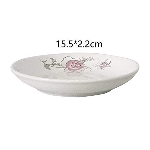 Cuenco LTT Plato Plato Utensilios Vajilla de Porcelana Vajilla Tigela Sopa de Cocina Comedor Bar cerámica cuenco-10.14 (Color : Version B)