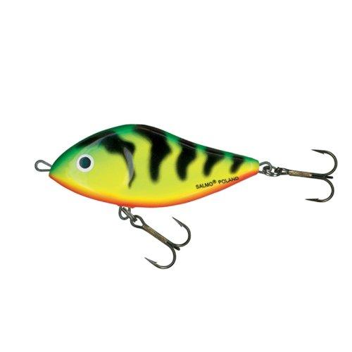 Salmo Slider Jerkbait Glider green tiger GT, schwimmend 7cm 17g