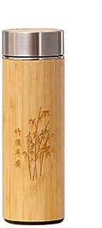 Termo para Te, Cafe y Agua de Bamboo con Infusor de Acero Inoxidable Termico (450ml)