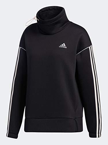 adidas Women's Intuitive Warmth Sweatshirt, Black/Pink Tint, XL