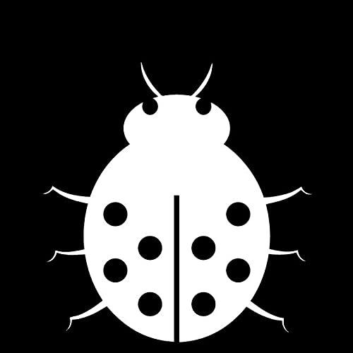 WZHLI Ladybug Dibujos Animados Calcomanías de Animales Moda Ventana de Coche Decoración Calcomanías Personalizada PVC Calcomanías Impermeables Negro/Blanco, 15 cm X 15 cm (Color Name : White)