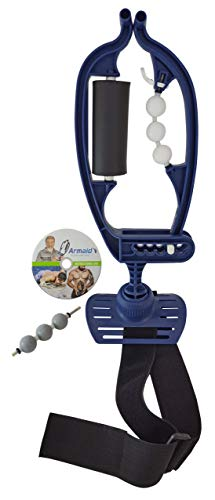 Foam Massage Tool with White & Grey Rollers & Strap