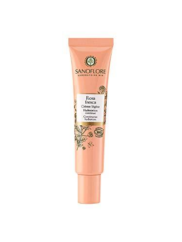 Sanoflore Rosa Fresca Crème Légère 40ml Bio pour Peau Normale, Peau Mixte, Peau Sensible