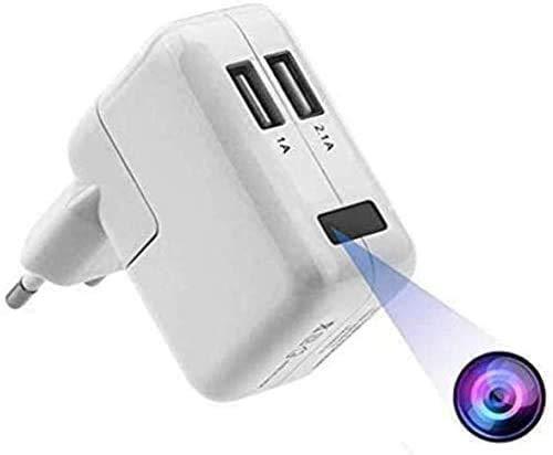 FiveSky Cámara espía Oculta HD 1080P con WiFi, Cargador USB, microcámaras, indicador de detección de Movimiento, cámara de vigilancia, Control de aplicación