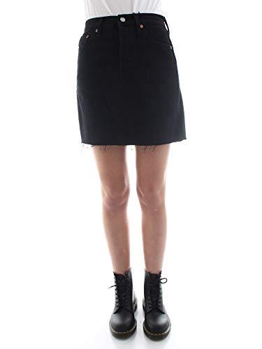 Levi's HR Decon Iconic BF Skirt Falda, Negro (Left Behind 0008), Talla única (Talla del Fabricante: 26) para Mujer