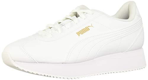 PUMA - Sneaker da donna Turin Platform, Bianco (Infradito colorati estivi, con finte perline), 36.5 EU