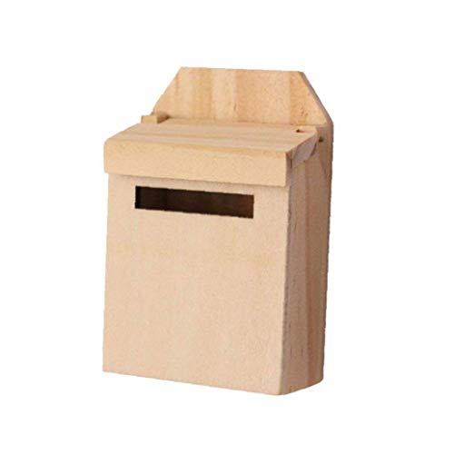 Berrywho Puppenhaus aus Holz Briefkasten-Spielzeug, 1: 12 Skala Puppenhaus Zubehör Home Garten Dekoration für Kinder Mädchen-Geschenk
