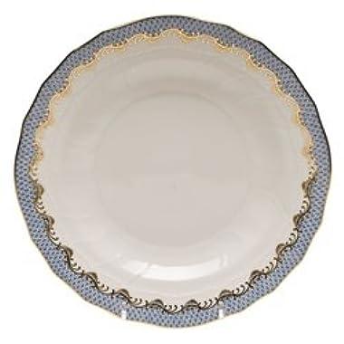Herend Fish Scale Light Blue Dessert Plate