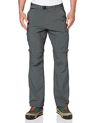 Columbia Cascades Explorer Pants Pantalones de senderismo, Hombre, Grey Grill, 28W / 32L