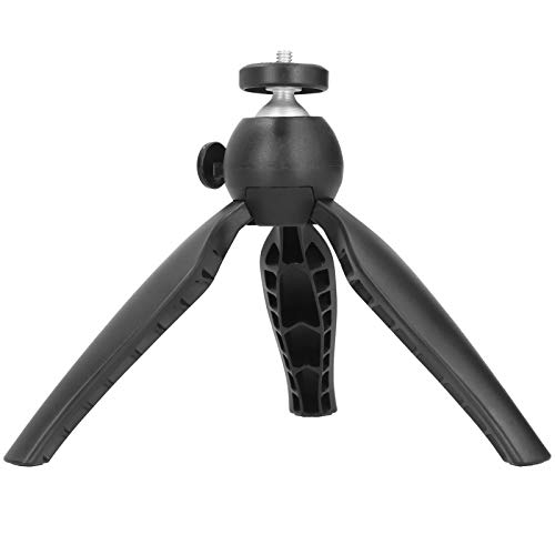 SALUTUYA Mini trípode de sobremesa Trípode de Soporte de teléfono de Escritorio de 5.1in / 7.3in para DSLR, para cámaras Deportivas, cámaras sin Espejo, cámaras SLR(Black)