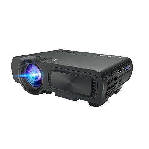 Wifi Digital HD 1080P-projector, 1800 lumen draagbaar 91 inch theater systeem met ± 15 ° 4D Keystone-correctie van een directe verbinding voor smartphones ondersteuning HDMI VGA TF-kaart AV USB zwart
