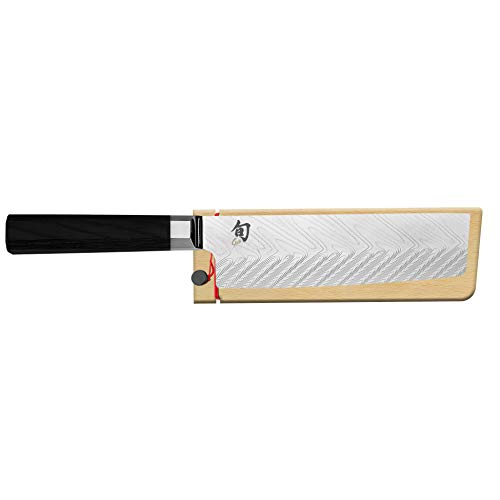 Shun Dual Core 6.5-in. Nakiri with Premium Stainless Steel Blade and Ebony PakkaWood Handle; Go-To Vegetable Knife for Easier Meal Preparation; Traditional Japanese Saya Included for Safe Storage