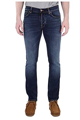 Nudie Jeans Herren Grim Tim Ink Navy Jeans, 46/48 DE