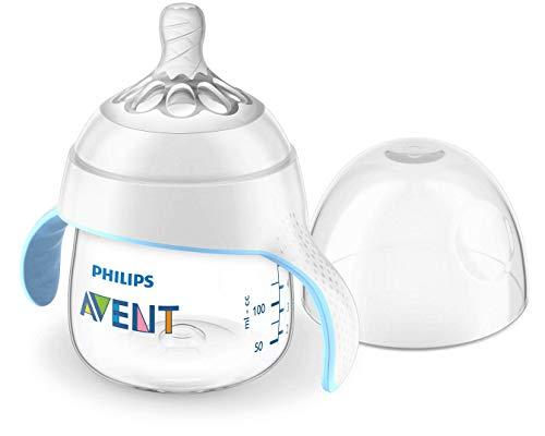 Philips Avent SCF262/06 Biberon evolutif  Natural 150 ml avec capuchon de protection + tétine douce débit moyen 4 Mois+