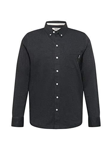 Wemoto Herren Hemd Shaw Mel schwarzmeliert L