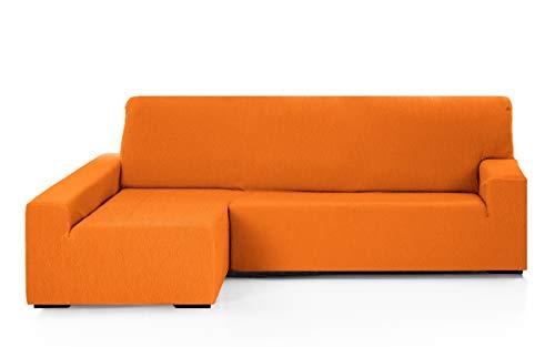Martina Home Funda para sofa Chaise Longue modelo Emilia - Brazo izquierdo, color Naranja