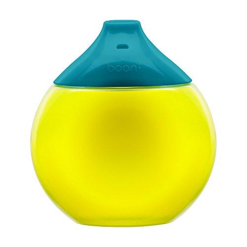 TOMY BOON - Tasse d'Apprentissage pour Bébé FLUID, Anti-fuites, 300mL, Tasse pour Enfant Sans BPA, Verte et Bleue, 300mL, Adaptée aux Enfants dès 9 Mois