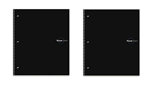 TOPS FocusNotes Note Taking System 1-Subject Notebook, 11 x 9 Inches, White, 100 Sheets (90223), Black - 2