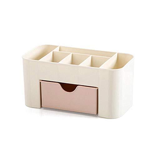Maquillage stockage maquillage plastique Organisateur boîte de rangement brosse forme avec étui coton-tige tiroir bâton de stockage