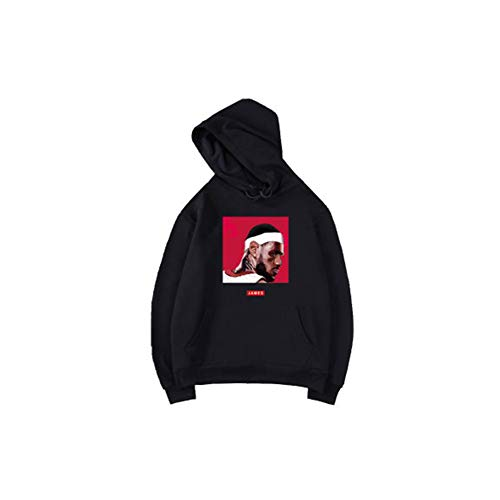 Preisvergleich Produktbild James Jersey Black Court Suit Herren Damen Kinder Sport Freizeit Pullover Sweater Plus Velvet Anzug Baumwollmaterial Weiche Textur (S-3XL) Gr. S,  Farbe