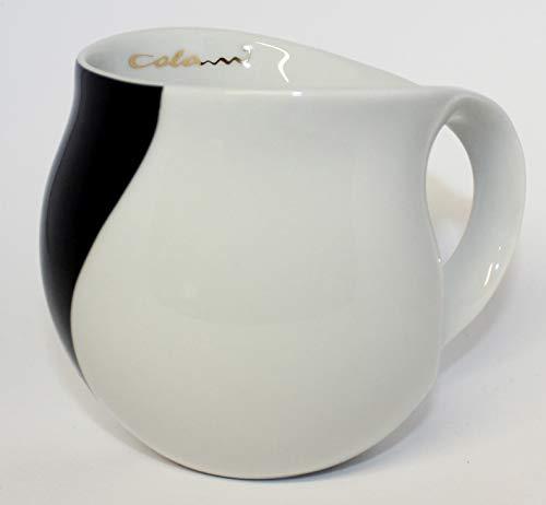 """Luigi Colani dekorierte Kaffeetasse Becher Tasse Cappuccinotasse Kaffeebecher """"Gold&Color"""" Arrow schwarz 280 ml"""