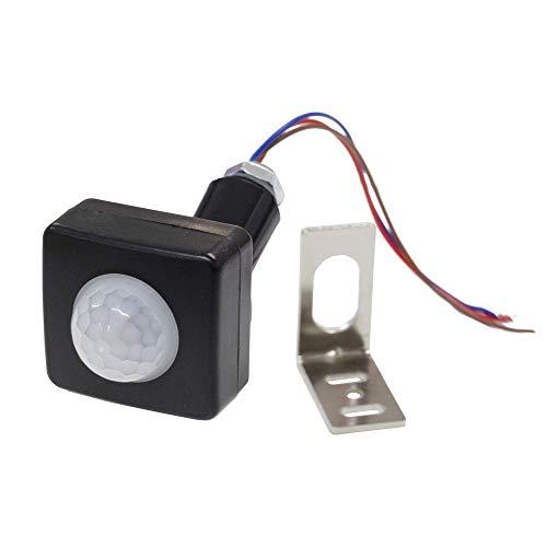 CPGS 小型 人感センサー スイッチ 赤外線 PIRセンサー 黒 AC100V 消費電力100W L型金具 日本語説明書付き