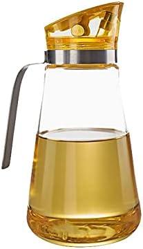 Lpiotyuyh Dispensador de botellas de aceite Botella de dispensador de aceite de oliva automáticamente, contenedor de condimento a prueba de fugas con tapa automática, cocina de cocina de cocina Tamaño