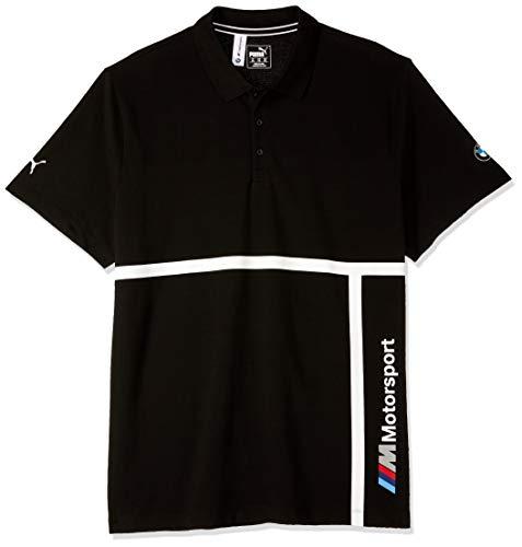 PUMA Herren BMW M Motorsport Polo, L Poloshirt, Schwarz (Black Black), Large (Herstellergröße: L)