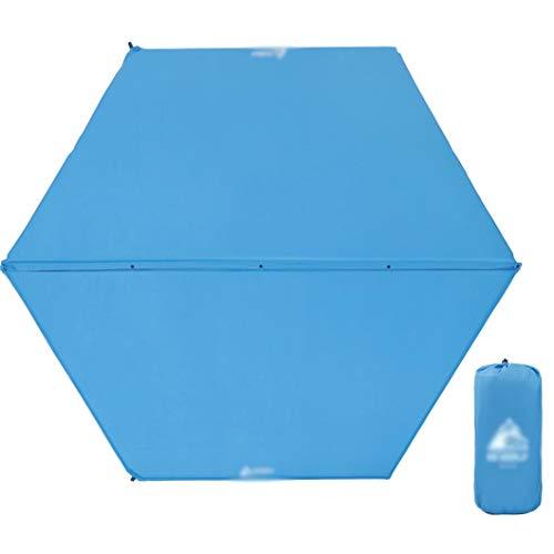 ZCQDJ Opblaasbare pad Volledig Zelfopblaasbare Camping Mat Hex Opblaasbare Slaapkussen Verdikking Comfortabele Tent Mat 5-8 Personen, 248x208x2.5cm Blauw