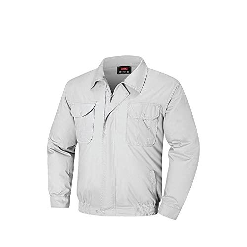 Giacca Abbigliamento con Aria Condizionata Ventola Cotone Doppia Cerniera per Estate,Gray,L XL