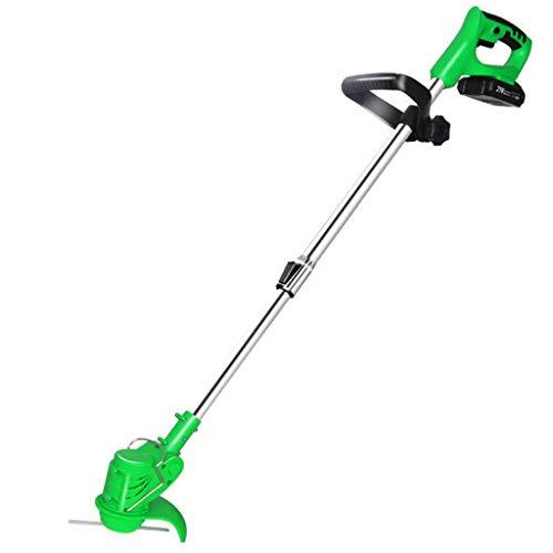 Handheld lawn mower Cortacésped a batería (Li-Ion 36V, Ancho de Corte 15cm, cortacésped eléctrico Recargable, 30cm retráctil, Cabezal motorizado Alargado e inclinable, con batería y Cargador)