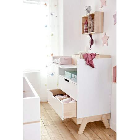 Alfred & Compagnie Table à langer avec 2 tiroirs MALO blanc