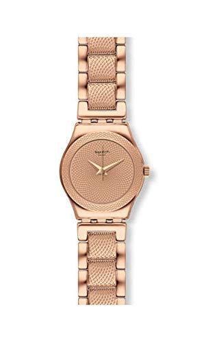 Swatch Reloj Analógico para Mujer de Cuarzo con Correa en Acero Inoxidable YSG163G