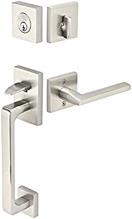 Emtek Baden Style Trim Handleset in Satin Nickel Right Inswing