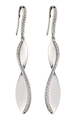 Fiorelli Sterling Silver Cubic Zirconia Twist Drop Earrings E5787C