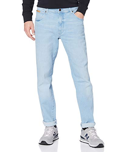 Wrangler Texas Taper Jeans, Azzurro, 34W x 34L Uomo
