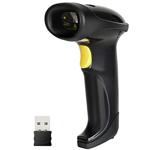 Inateck 2.4GHz Wireless USB Automatic Barcode Scanner Handheld Bar-Code Reader, BCST-20