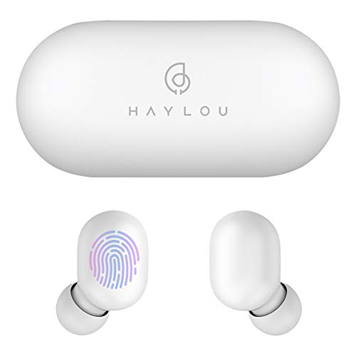 Cuffie Bluetooth Haylou GT1 Auricolari senza fili Touch Control Sport stereo HD stereo con connessione rapida/IPX5 impermeabile/Total 12H Playtime/Mini case (solo 30g)
