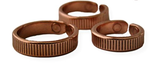 PROEXL Solid Copper Magnetic Therapy Ring Quantum with Gift Box (10)